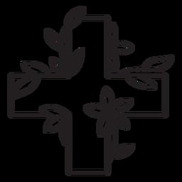 Esquema de símbolo de cruz médica florida