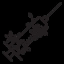 Carrera de jeringa con aguja florida