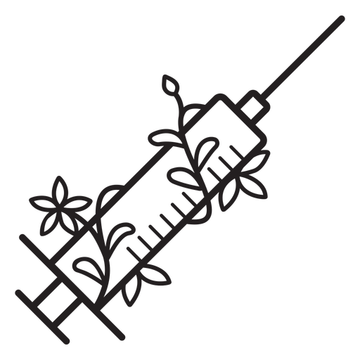 Flowery needle syringe stroke Transparent PNG