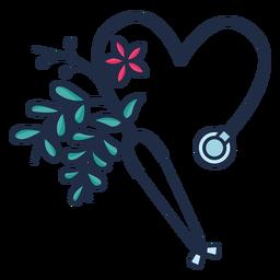 Símbolo de estetoscopio florido