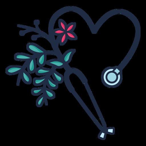 Flowery stethoscope symbol