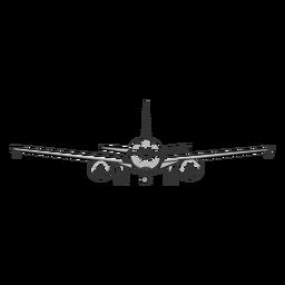 Esquema de avión de vista frontal