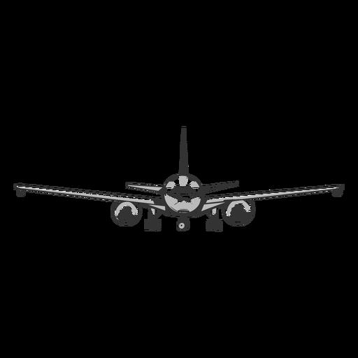 Contorno frontal do avião