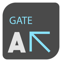 Gate a arrow airport sign icon