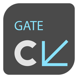 Gate c arrow airport sign icon
