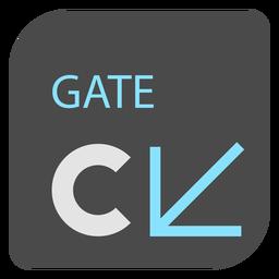 Icono de señal de aeropuerto de flecha de puerta c