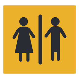 Gender washroom icon sign