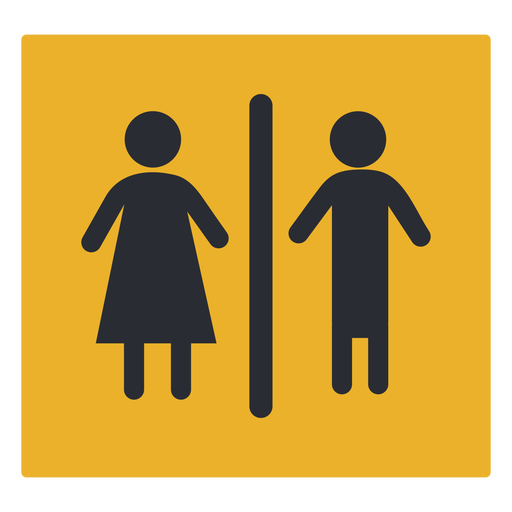 Gender washroom icon sign Transparent PNG