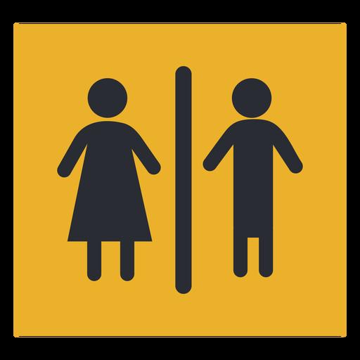 Signo de icono de baño de género