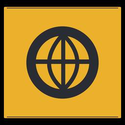 Signo de icono de círculo de globo