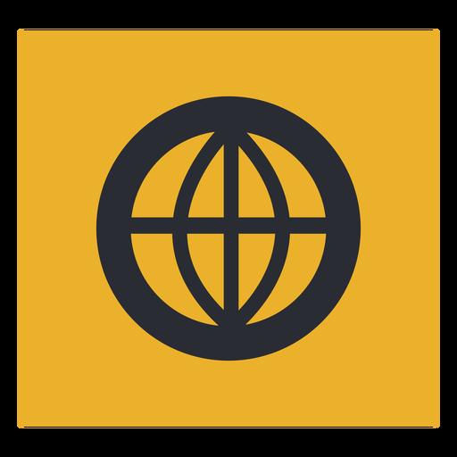 Globe circle icon sign