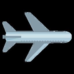 Símbolo plano de la vista superior del avión gris
