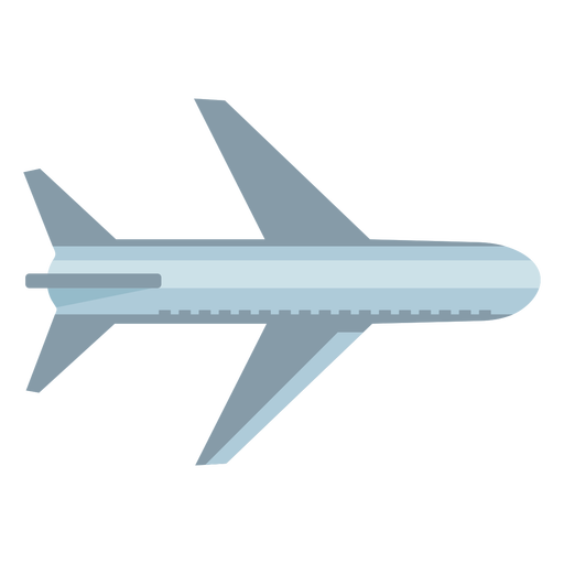 Gray airplane top view flat symbol
