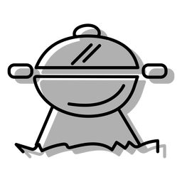 Gray bbq grill icon
