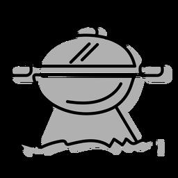 Icono de parrilla de barbacoa gris