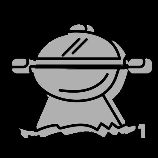 Gray bbq grill icon