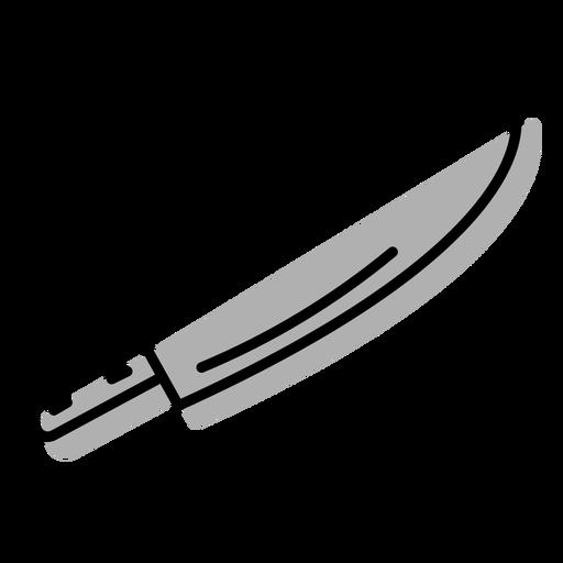 Icono de cuchillo de corte gris plano