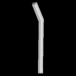 Icono de ilustración de paja flexible de papel gris