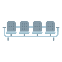 Gray seats icon flat