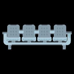 Icono de asientos gris plano