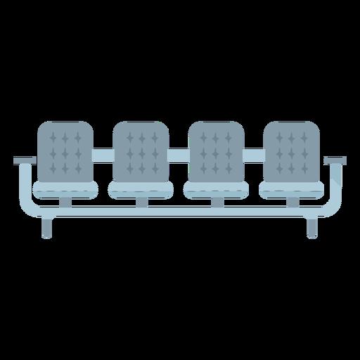 Gray seats icon flat