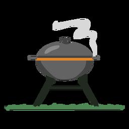 Parrilla de humo gris barbacoa