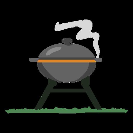 Gray smoke grill bbq