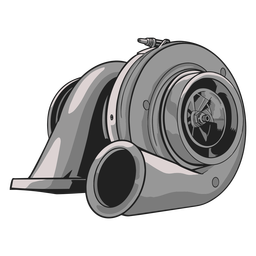 Gray turbo compressor illustration