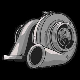 Ilustración de turbocompresor gris