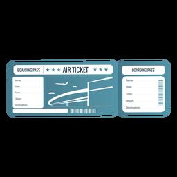 Green boarding pass air ticket