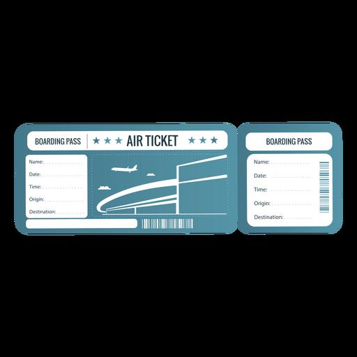Boleto aéreo con tarjeta de embarque verde