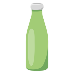 Green reusable bottle illustration flat