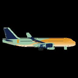 Perfil de avión degradado verde amarillo