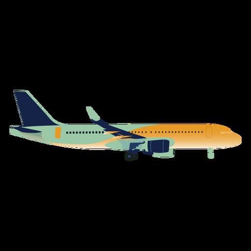 Green yellow gradient airplane profile