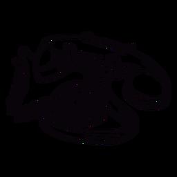Dibujado a mano moderno teléfono rotatorio clásico contorno en ángulo