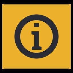 Signo de icono de información de letra i