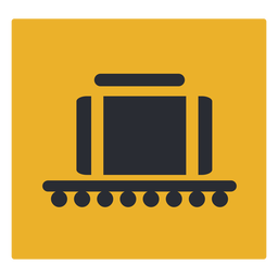 Luggage conveyor belt claim icon sign