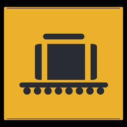 Signo de icono de reclamo de cinta transportadora de equipaje