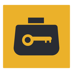 Luggage lock icon sign