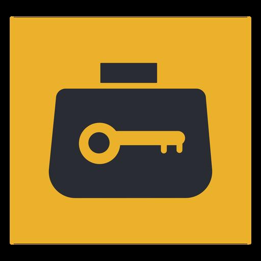 Signo de icono de candado de equipaje