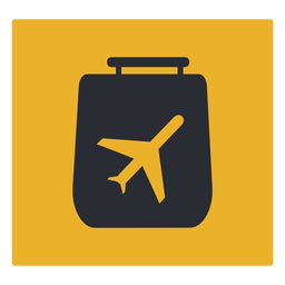 Luggage plane travel icon sign