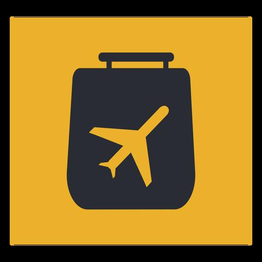 Signo de icono de viaje de avión de equipaje Transparent PNG