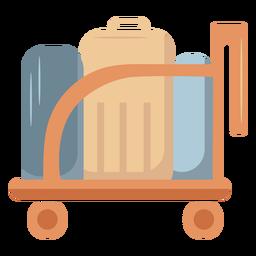Carro de equipaje plano