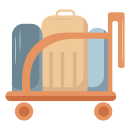Luggage trolley flat