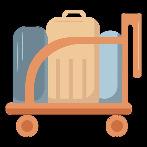 Luggage trolley flat