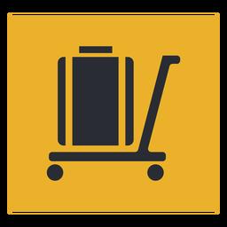 Signo de icono de carro de equipaje