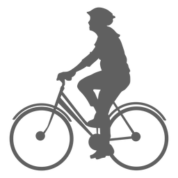 Male cyclist silhouette