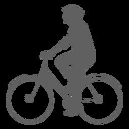 Silhueta de ciclista masculino