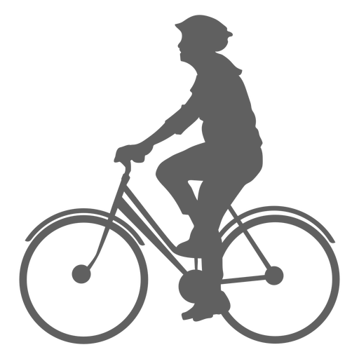 Male cyclist silhouette Transparent PNG