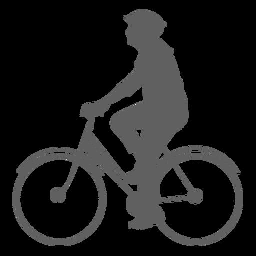 Silueta de ciclista masculino